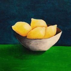 "Saatchi Online Artist mine karatay; Painting, ""yellow like a lemon"" #art"