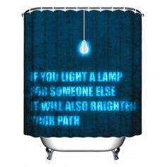 Letter Proverb Waterproof Fabric Shower Curtain   W71INCH*L71INCH  W71INCH*L71INCH