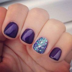 Glitter Gel Nail Designs For Short Nails For Spring 2019 Great ready to book your next manicure, bec Fancy Nails, Love Nails, Pretty Nails, My Nails, Gel Nail Art Designs, Short Nail Designs, Cute Nail Designs, Nails Design, Salon Design