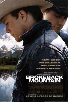 Brokeback Mountain (2005) Ang Lee con Heath Ledger y Jake Gyllenhaal.