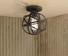 "Industrial Atom 8"" Wide Edison Bronze Ceiling Light - Close To Ceiling Light Fixtures - Amazon.com"