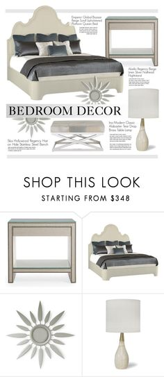 """""""Bedroom Decor"""" by kathykuohome ❤ liked on Polyvore featuring interior, interiors, interior design, home, home decor, interior decorating, Abella, bedroom and homedecor"""