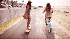 A la universidad en Longboard o Bici? #longboard #girls #bici #umayor #estudiantes