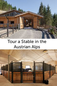 Tour this beautiful stable in the Austrian alps.