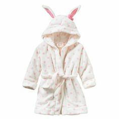 Jumping Beans Dotted Bunny Robe - Toddler