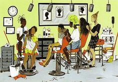 Extensions by Annie Lee African American Artist, American Artists, African Art, African Beauty, American Women, Black Girl Art, Black Women Art, Art Girl, Annie Lee