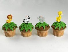 Animal theme - Made these for Em's 1st bday