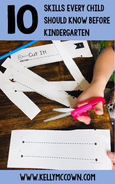 10 Skills Every Child Should Know Before Kindergarten