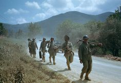 Troops in the Liri Valley, on the road to Rome, Italian Campaign, 1944.  Read more: World War II in Color: The Italian Campaign and the Road to Rome, 1944 | LIFE.com http://life.time.com/history/world-war-ii-in-color-photos-italian-campaign/#ixzz2wCba8GXL