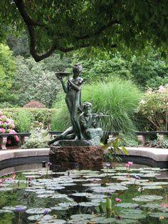 Cascade et  fontaine de jardin , 69 déco pour les moments de relaxe - fontain-de-jardin-élégant-statue-de-fill-