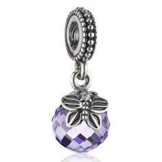 Finding the Right #Pandora Charms for Your Bracelet, Pandora Pendant Charm Morning Butterfly in #Lavender