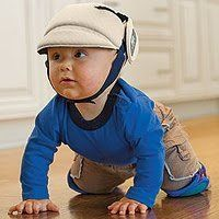 No-Shock Helmet by OK Baby. $54.95. No-Shock Baby and Toddler Safety Helmet is a cute and comfortable protective helmet ideal for babies learning to crawl or walk. No-Shock also helps protect the head from sharp furniture corners. This advanced baby helmet is made of shock absorbent high-tech foam that absorbs impacts and cushions falls, without bulky padding. Its breathable Santitized® polyester lining prevents the formation of mold or bacteria. No Shock fits kids 8-20 month...