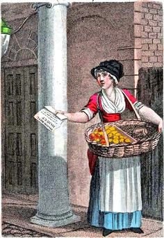William Marshall Craig's Itinerant Traders of London in their Ordinary Costume...1804. Buy a Bill of the Play