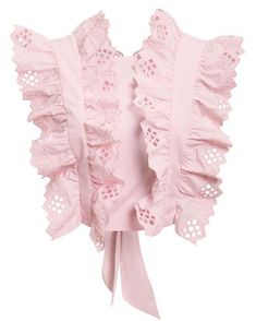 Alberta Ferretti Ruffled Cotton Lace Top In Pink Classy Outfits, Boho Outfits, Pretty Outfits, Fashion Outfits, Look Fashion, Diy Fashion, Fashion Design, Kpop Outfits, Little Girl Dresses