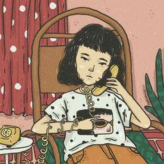 Vaporwave Art, Korean Art, Illustrations And Posters, Cute Illustration, Anime Art Girl, Aesthetic Art, Drawing Reference, Cute Drawings, Cute Art