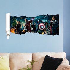 Baby Groot 3D Childrens Boys Girls Wall Sticker Wall Art Transfer Decal 3 Sizes