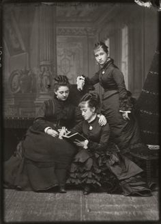 """back-then: """"Ladies from the 1870s """""""