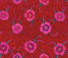 Kaffe Fassett Collective Red Dianthus