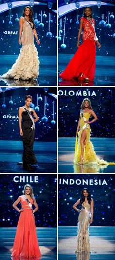 Miss Universe Contestants 2012