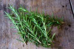 Banishing home odors: rosemary sprigs in the bottom of trash cans before putting a bag in.