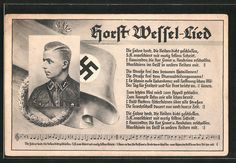 Postcard : AK Porträt SA-Sturmführer Horst Wessel in Uniform