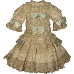 MARVELOUS Antique French Silk Bebe Couturier Costume for JUMEAU, BRU from mybebes on Ruby Lane