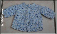 marianna's lazy daisy days: Bella Baby Jacket, through ravelry Baby Cardigan Knitting Pattern Free, Baby Sweater Patterns, Knitted Baby Cardigan, Knit Baby Sweaters, Toddler Sweater, Baby Hats Knitting, Knitting For Kids, Baby Knitting Patterns, Baby Patterns