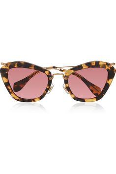 Miu Miu|Cat-eye acetate sunglasses|