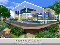 The Sims Resource: Maya Modern Design 7 by Autaki • Sims 4 Downloads