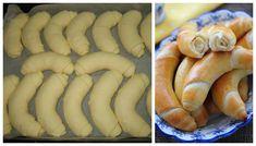 Vynikajúci recept na domáce maslové rožky, ktoré si všetci zamilujú. Sú veľmi mäkučké a nesmierne jemné. Sausage, Bread, Food, Baking Ideas, Cakes, Basket, Cake Makers, Sausages, Brot