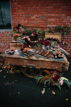 Offbeat Boho Mixed with Industrial Chic Wedding Ideas in Boston Rustic Wedding Foods, Fall Wedding Cakes, Rustic Wedding Chic, Wedding Dessert Tables, Fall Wedding Desserts, Rustic Chic, Wedding Centerpieces, Wedding Decorations, Cake Decorations
