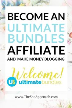 A brilliant affiliate program for new and seasoned bloggers. Become and Ultimate Bundles affiliate today and earn money online by referring sales to their blogging, photography, work from home, essential oils, health and clutter free/organisation bundles! Make money blogging with affiliate marketing today, monetize your blog and social media. Affiliate marketing tips for bloggers. Affiliate programs for content creators. (refferal link)