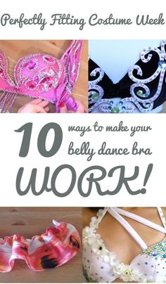 10 Ways to Make Your Belly Dance Bra Fit (with minimal sewing!) - Perfectly Fitting Costume Week 1/3 - SPARKLY BELLY
