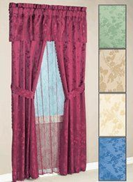 Burgundy Curtain Panels 63