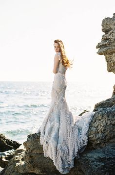 Fairytale inspired MXM Couture gown in a bridal portrait photoshoot by Feather and Stone // Mermaid Inspiration With an Other-Worldly Gown