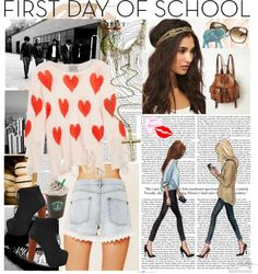 """PSA First Day of School Outfit"" by mishmish97 ❤ liked on Polyvore"