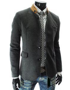 Men's Double Collar 3 Button 2 Tone Blazer – Tattee Boy Clothes
