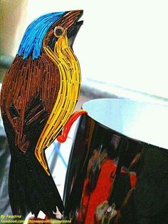 Chinese Quilling on Facebook - quilled bird