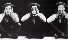 Buster Keaton - hear no evil, see no evil, speak no evil Black White Photos, Black And White, Buster Keaton, Silent Comedy, Beautiful And Twisted, Three Wise Monkeys, See No Evil, Long Shot, Charlie Chaplin