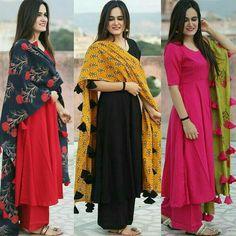 Bollywood Designer Slawar Kameez Indian Pakistani Wedding Party Wea r Suit SM Salwar Designs, Kurti Designs Party Wear, Latest Kurti Designs, Plain Kurti Designs, Pakistani Dresses, Indian Dresses, Indian Outfits, Moda Indiana, Indie Mode