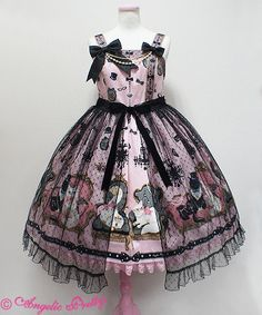 Lolibrary | Angelic Pretty - JSK - Princess Cat Peplum JSK http://amzn.to/2k2HTMQ