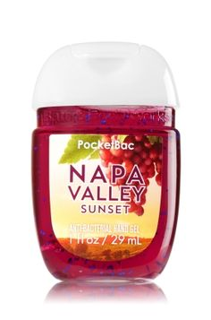 Napa Valley Sunset - PocketBac Sanitizing Hand Gel - Bath & Body Works - Now… Bath N Body Works, Body Wash, Bath And Body, Victoria Secret Fragrances, Perfume, Love Your Skin, Body Spray, Smell Good, Hand Sanitizer