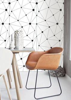 Self adhesive wallpaper , temporary wallpaper,removable wallpaper, geometric wallpaper , geometric pattern,peel and stick wallpaper 137