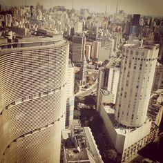Sao Paulo, central area. View from Edificio Italia