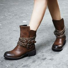 Cool! Punk Rivet Cross Belt Buckle Martin Boots/Shoes just $68.99 from ByGoods.com! I can't wait to get it!