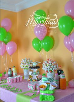 Cumple hija dahiana on pinterest balloon columns - Decoracion fiesta cumpleanos nina ...