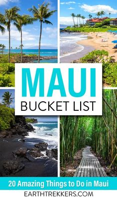 The Ultimate Maui Bucket List. 20 amazing things to do in Maui, Hawaii: swim with sea turtles, go surfing, drive the Road to Hana, visit Haleakala National Park, go to a Luau, relax on the beach, visit Lahaina, go whale watching, eat shave ice, and so much more.