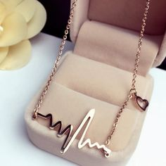 Titanium Steel Choker Necklace Women Bijoux Rose Gold Plated New Fashion Heat Necklaces & Pendants Gift Cute Jewelry, Jewelry Gifts, Jewelery, Jewelry Accessories, Geek Jewelry, Fashion Jewelry Necklaces, Trendy Jewelry, Fashion Jewellery, Women's Jewelry