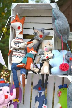 foxes and wolf #handmade design by agatownik