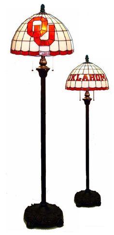 Oklahoma Sooners Tiffany Floor Lamp
